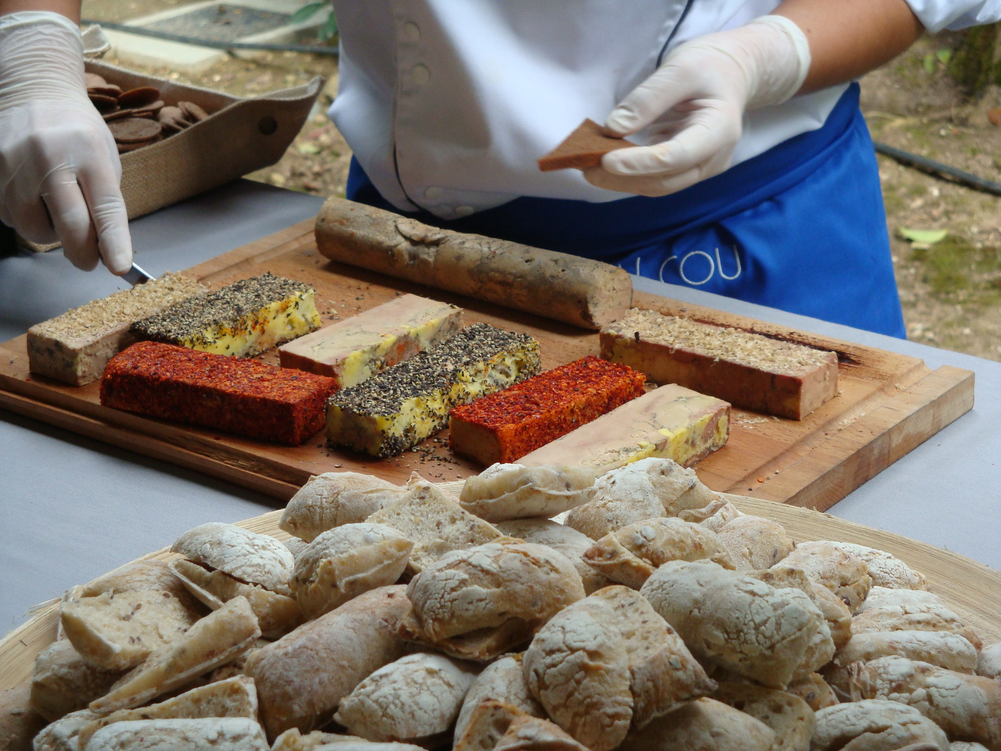 Photo d'une découpe de foie gras