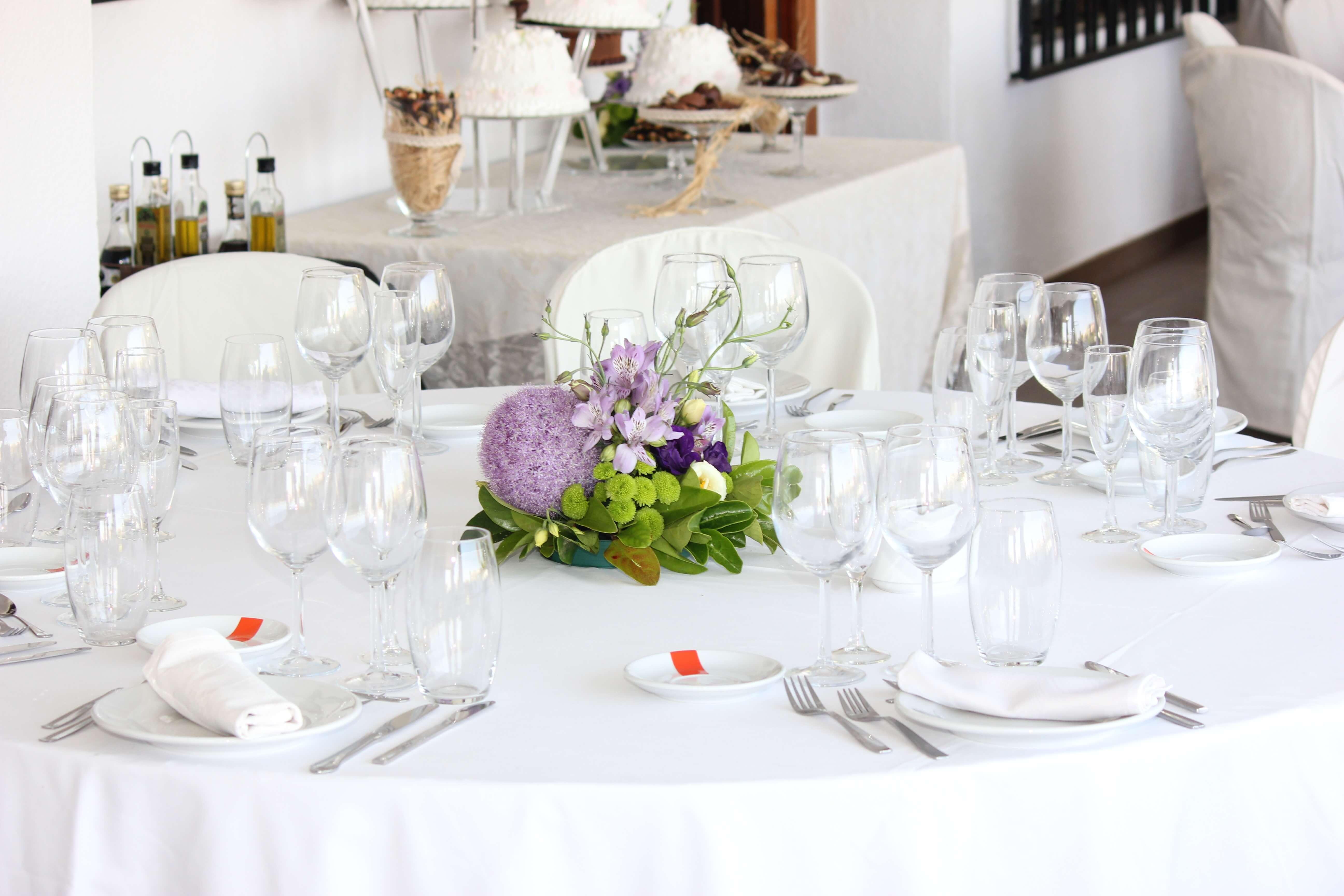 Table de mariage pour réception
