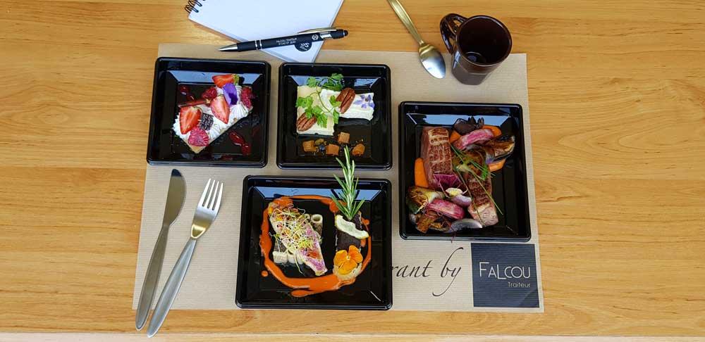Photographie de plateaux repas Falcou